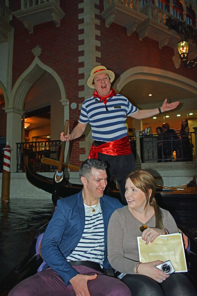 Our Gondolier and another couple that shared our ride.